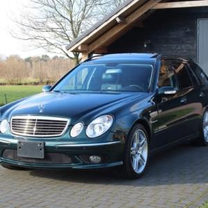 Mercedes E55 T AMG (r211) 2004 Green